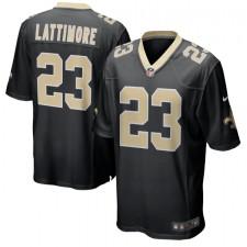 Marshon Lattimore New Orleans Saints Nike Juego Jugador Camisetas - Negro