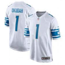 Jeff Okudah Detroit Lions Nike 2020 NFL Draft First Round Pick Juego Camisetas - Blanco