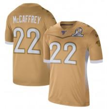 Christian McCaffrey Nike 2020 NFC Pro Bowl Juego Camisetas - Oro