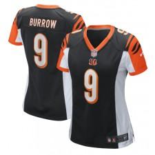 Joe Burrow Cincinnati Bengals Nike Mujeres 2020 NFL Draft Primera Ronda Pick Juego Camisetas – Negro