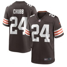 Nick Chubb Cleveland Browns Nike Juego Jugador Camisetas – Marrón