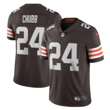 Nick Chubb Cleveland Browns Nike Vapor Limited Camisetas - Marrón