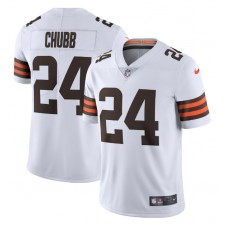 Nick Chubb Cleveland Browns Nike Vapor Limited Camisetas - Blanco