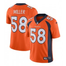 Von Miller Denver Broncos Nike Vapor Untouchable Limited Jugador Camisetas - Naranja