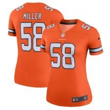 Von Miller Denver Broncos Nike Mujer Color Rush Leyenda Camisetas - Naranja