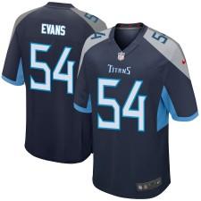 Rashaan Evans Tennessee Titans Nike Juego Jugador Camisetas - Marina