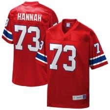 John Hannah New England Patriots NFL Pro Line Retirado Jugador Réplica Camisetas - Rojo