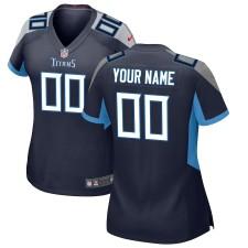 Tennessee Titans Nike camiseta personalizada para mujer - Marina