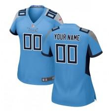 Tennessee Titans Nike camiseta personalizada para mujer - azul claro