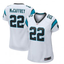 Christian McCaffrey Carolina Panthers Nike Camiseta Jugadora Femenina – Blanco