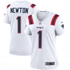 Cam Newton New England Patriots Nike Camiseta de juego para mujeres - Blanco