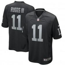 Henry Ruggs III Las Vegas Raiders Nike 2020 NFL Draft First Redondo Elegir Juego Camisetas - Negro