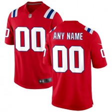 New England Patriots Nike Alternate Personalizado Camisetas - Rojo