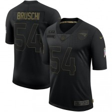 Camiseta Tedy Bruschi New England Patriots Nike 2020 Salute To Servicio Retired Limited - Negro