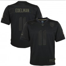 Julian Edelman New England Patriots Nike Youth 2020 Salute to Service Juego Camiseta - Negro