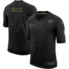 Camiseta Travis Kelce Kansas City Chiefs Nike Salute To Service Limited 2020 - Negro