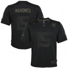 Camiseta Patrick Mahomes Kansas City Chiefs Nike Niños 2020 Salute to Service Juego - Negro