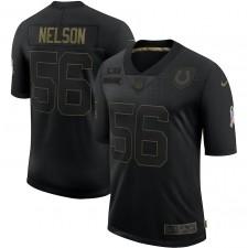 Camisetas Quenton Nelson Indianapolis Colts Nike 2020 Salute To Service Limitada - Negro