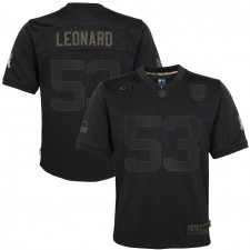 Camisetas Darius Leonard Indianapolis Colts Nike Niños 2020 Salute to Service Juego - Negro