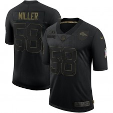 Von Miller Denver Broncos Nike 2020 Salute To Servicio Limitada Camisetas – Negro