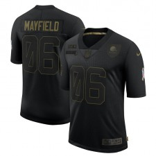 Baker Mayfield Cleveland Browns Nike 2020 Salute To Service Limitada Camisetas – Negro