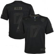 Josh Allen Buffalo Bills Nike Niños 2020 Salute to Service Juego Camisetas – Negro