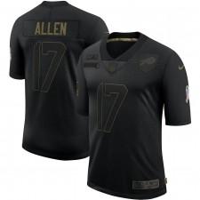 Josh Allen Buffalo Bills Nike 2020 Salute To Servicio Limitada Camisetas – Negro