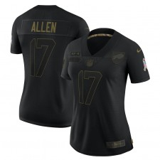 Josh Allen Buffalo Bills Nike Mujeres 2020 Salute To Servicio Limitada Camisetas – Negro