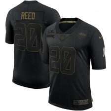 Ed Reed Baltimore Ravens Nike 2020 Salute To Service Retirado Limitada Camisetas – Negro