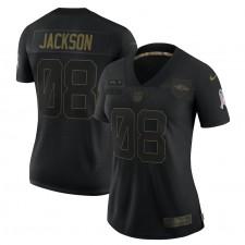 Lamar Jackson Baltimore Ravens Nike Mujeres 2020 Salute To Servicio Limitada Camisetas – Negro