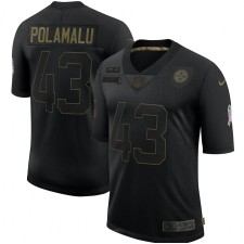 Troy Polamalu Pittsburgh Steelers Nike 2020 Salute To Service Retired Limitada Camisetas – Negro