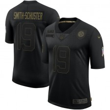 JuJu Smith-Schuster Pittsburgh Steelers Nike 2020 Salute To Servicio Limitada Camisetas – Negro