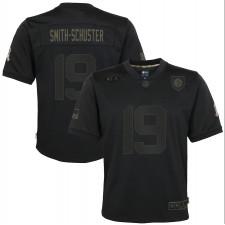 JuJu Smith-Schuster Pittsburgh Steelers Nike Niños 2020 Salute to Service Juego Camisetas – Negro
