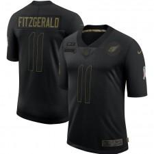 Larry Fitzgerald Arizona Cardinals Nike 2020 Salute To Servicio Limitada Camisetas – Negro