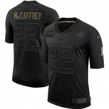 Christian McCaffrey Carolina Panthers Nike 2020 Salute To Service Limitada Camisetas – Negro