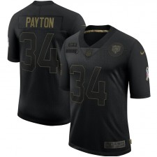 Walter Payton Chicago Bears Nike 2020 Salute To Service Retired Limitada Maillot – Negro