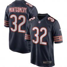 David Montgomery Chicago Bears Nike Juego Jugador Camisetas - Marina