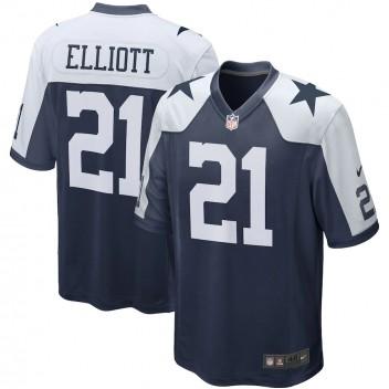 Ezekiel Elliott Dallas Cowboys Nike Alternate Juego Equipo Maillot - Marina