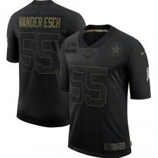 Leighton Vander Esch Dallas Cowboys Nike 2020 Salute To Servicio Limited Camisetas – Negro