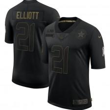 Ezekiel Elliott Dallas Cowboys Nike 2020 Salute To Service Limitada Camisetas – Negro