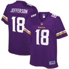 Justin Jefferson Minnesota Vikings NFL Pro Line Jugador Femenino Equipo Camisetas - Púrpura