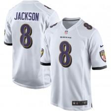 Lamar Jackson Baltimore Ravens Nike Jugador Juego Camisetas - Blanco