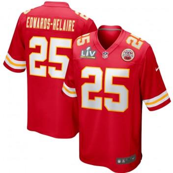 Clyde Edwards-Helaire Kansas City Chiefs Nike Super Bowl LV Límite Juego Camisetas - Rojo