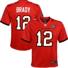 Tom Brady Tampa Bay Buccaneers Nike Juvenil Super Bowl LV Bound Juego Camisetas - Rojo