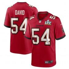 Lavonte David Tampa Bay Buccaneers Nike Super Bowl LV Juego Camisetas - Rojo