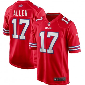 Josh Allen Buffalo Bills Nike Camiseta de juego alternativo - Rojo