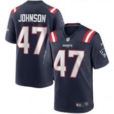 Jakob Johnson Nueva Inglaterra Patriots Nike Juego Camisetas – Marina