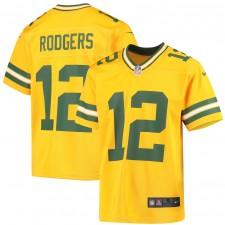 Aaron Rodgers Green Bay Packers Nike Niños Inverted Juego Camisetas - Oro