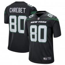 Wayne Chrebet New York Jets Nike Camiseta de jugador retirado – Negro