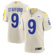 Matthew Stafford Los Angeles Rams Nike jugador juego Camisetas - Hueso